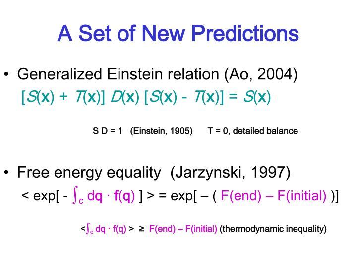 A Set of New Predictions