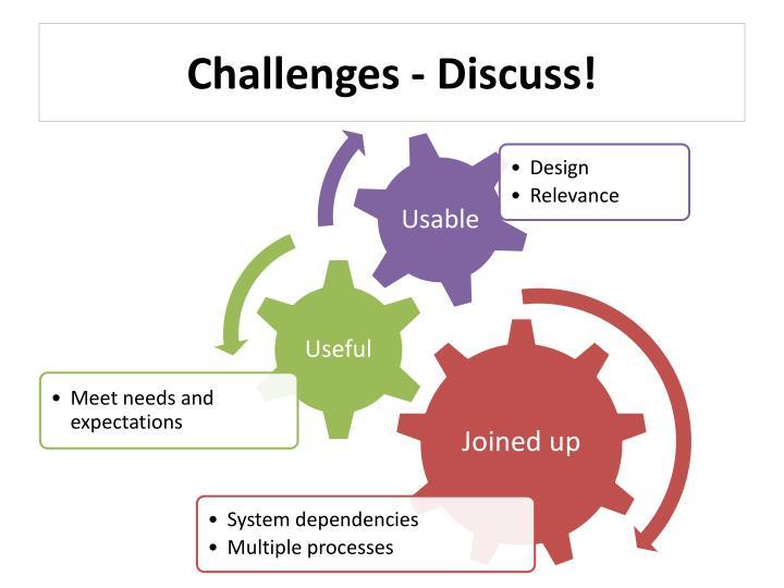 Challenges - Discuss!