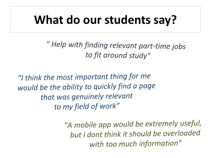 What do our students say?
