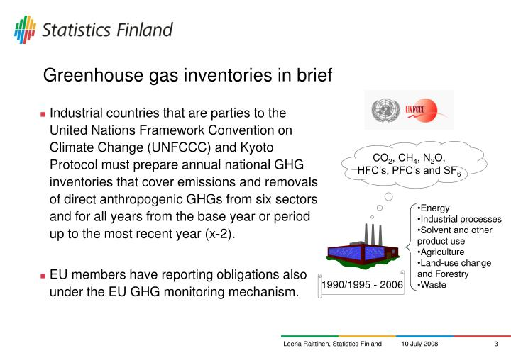 Greenhouse gas inventories in brief