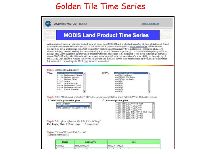 Golden Tile Time Series