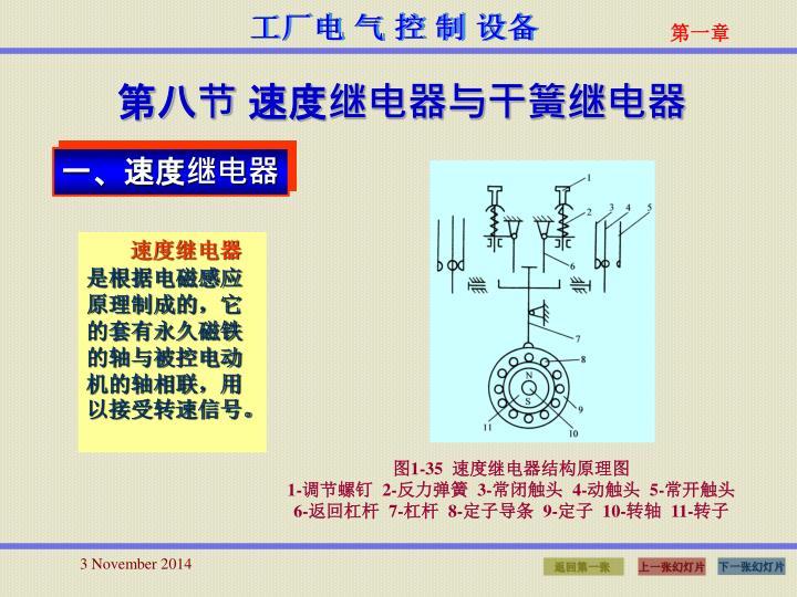 第八节 速度继电器与干簧继电器