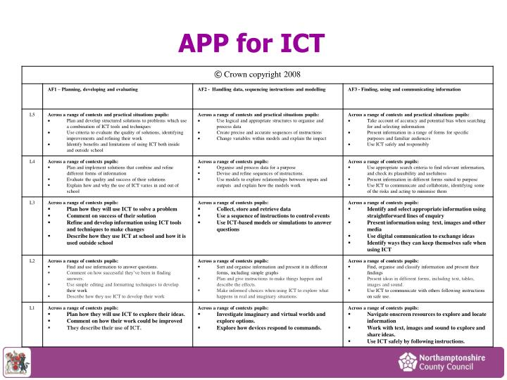 APP for ICT
