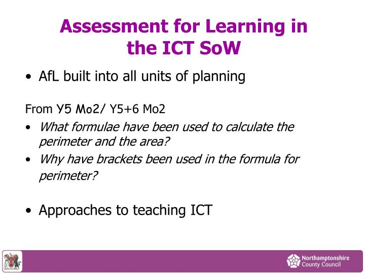 Assessment for Learning in