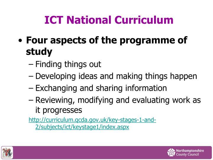 ICT National Curriculum