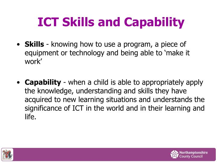 ICT Skills and Capability