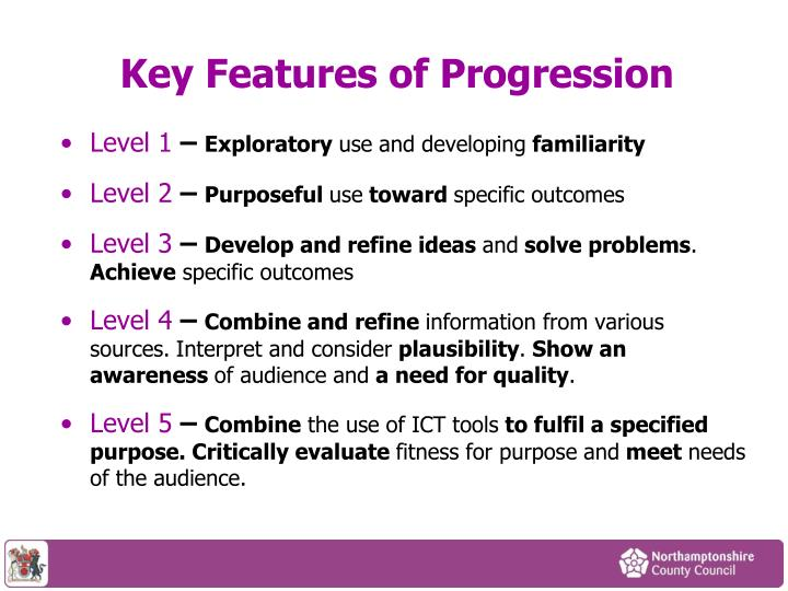 Key Features of Progression