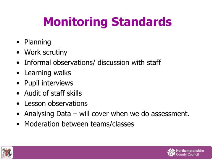 Monitoring Standards