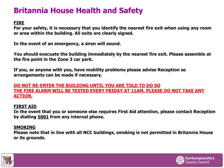 Britannia House Health and Safety