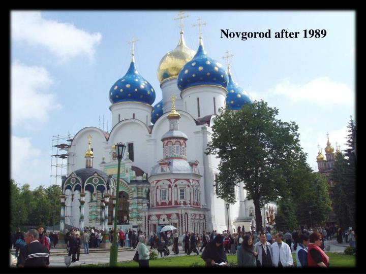 Novgorod after 1989