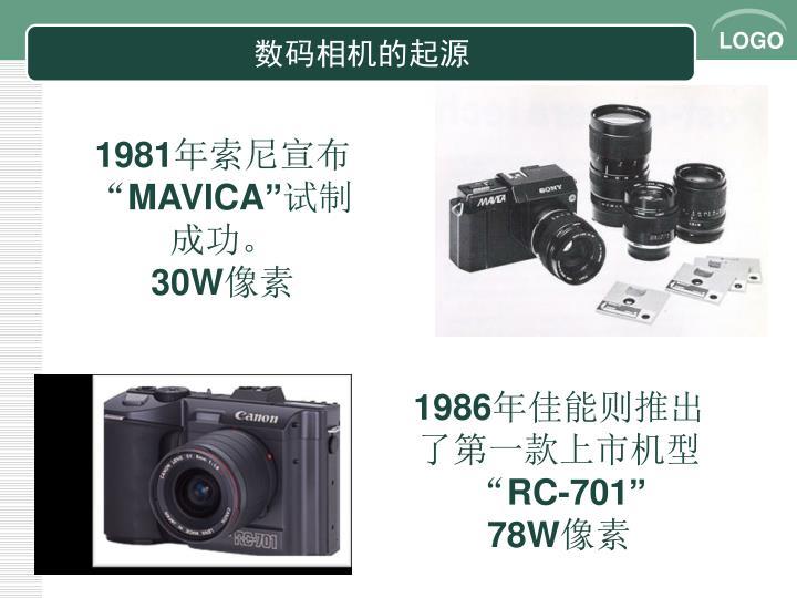 数码相机的起源