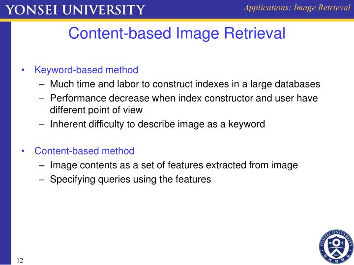 Applications: Image Retrieval