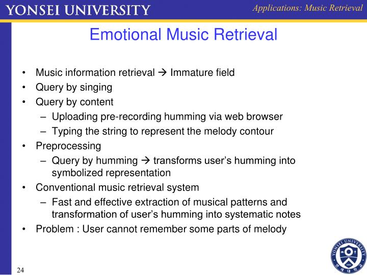 Applications: Music Retrieval