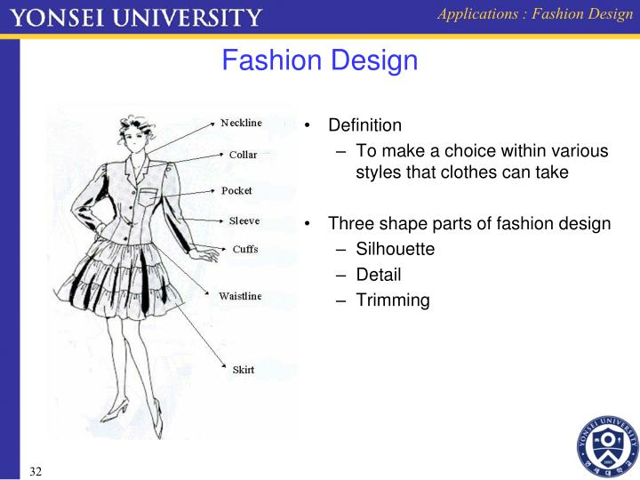 Applications : Fashion Design