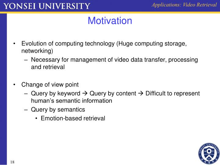 Applications: Video Retrieval