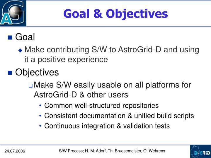 Goal & Objectives