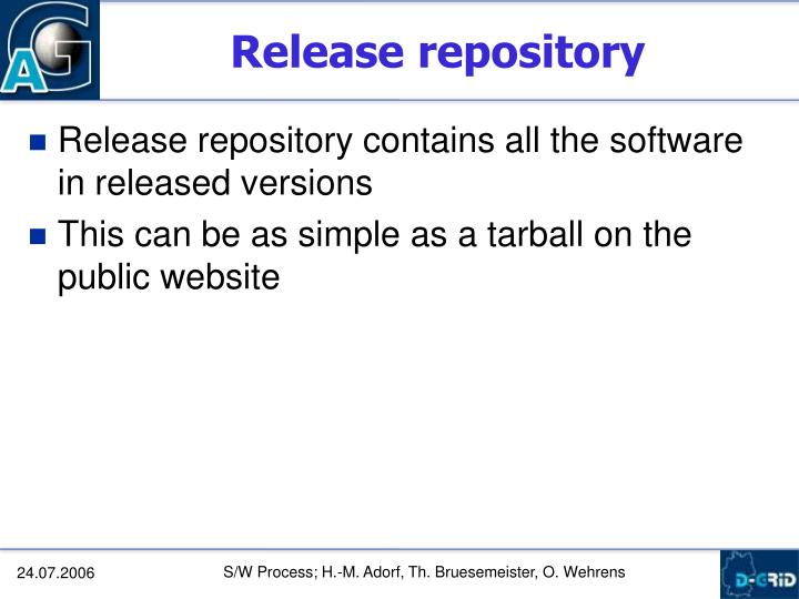 Release repository