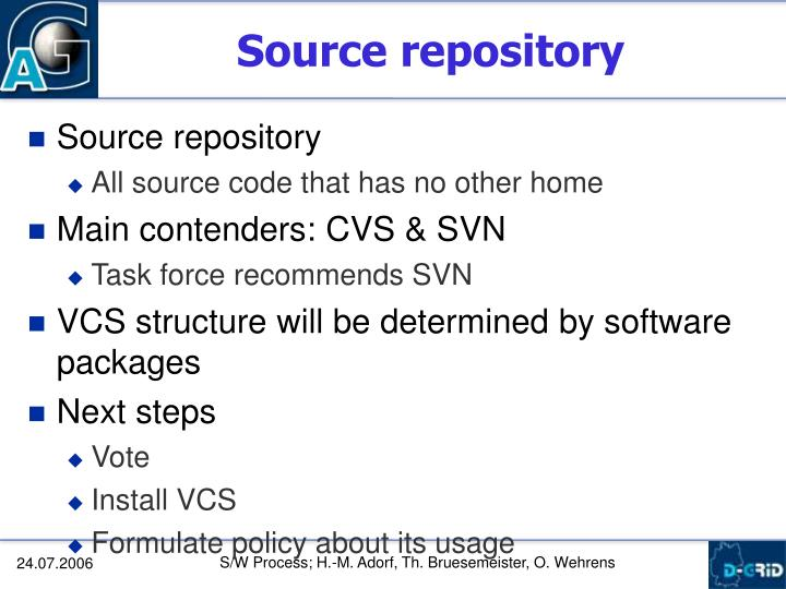 Source repository