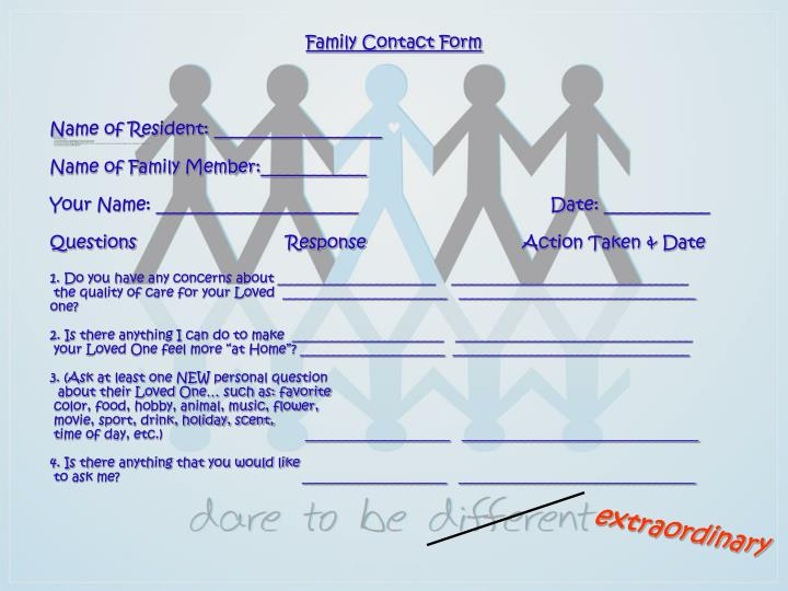 Family Contact Form
