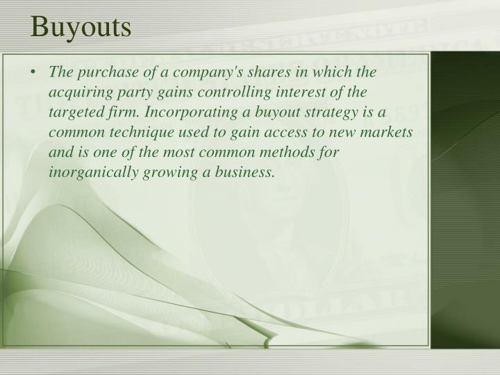 Buyouts