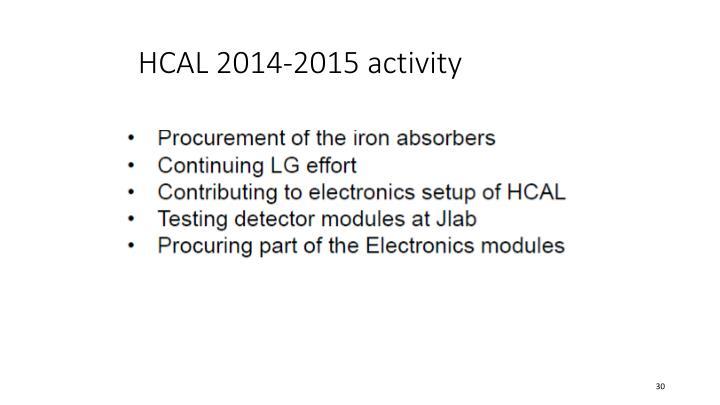 HCAL 2014-2015