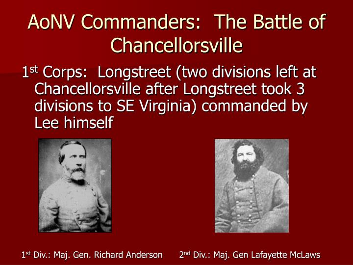 AoNV Commanders:  The Battle of Chancellorsville