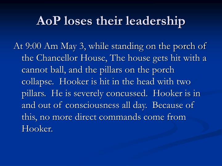 AoP loses their leadership