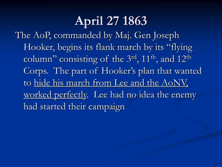 April 27 1863