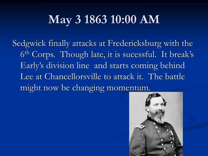 May 3 1863 10:00 AM