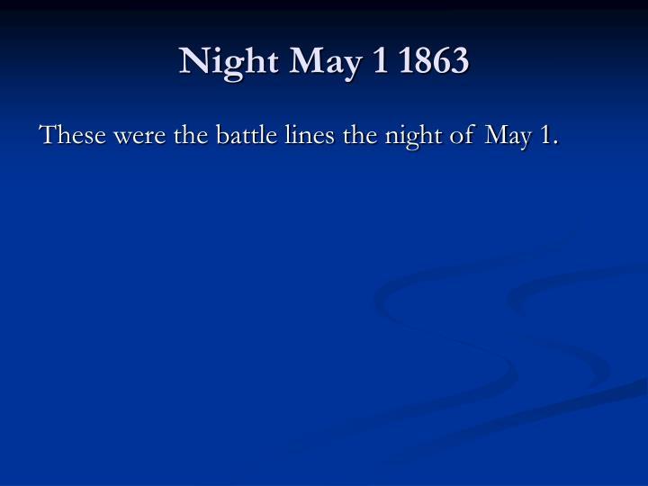 Night May 1 1863