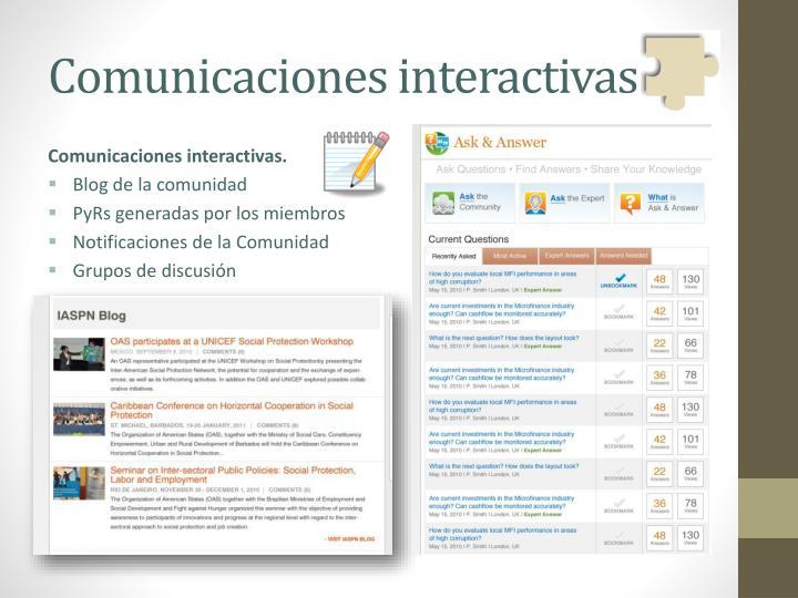 Comunicaciones interactivas.