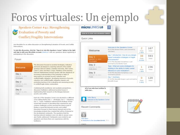 Foros virtuales: Un ejemplo