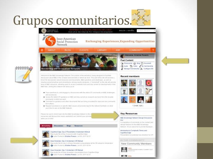 Grupos comunitarios.