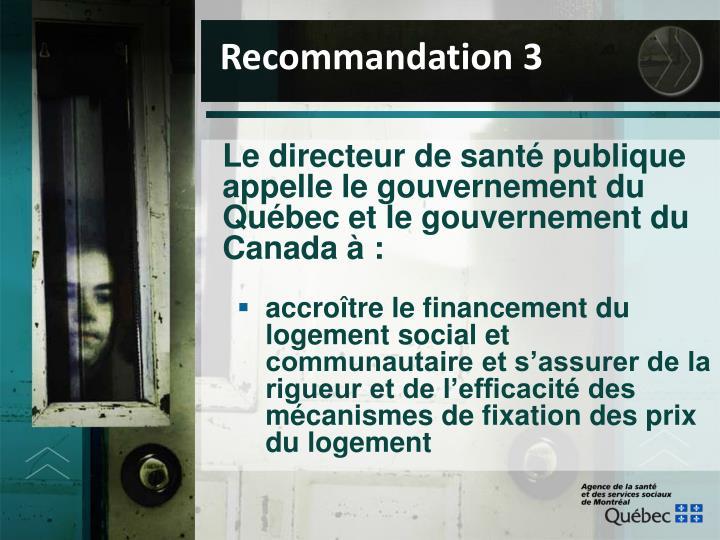 Recommandation 3