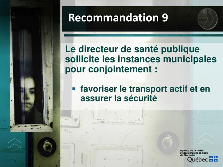 Recommandation 9
