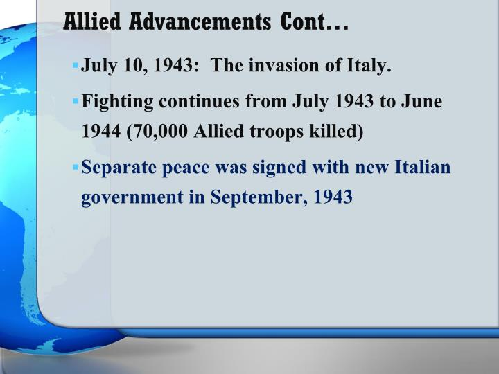 Allied Advancements Cont…