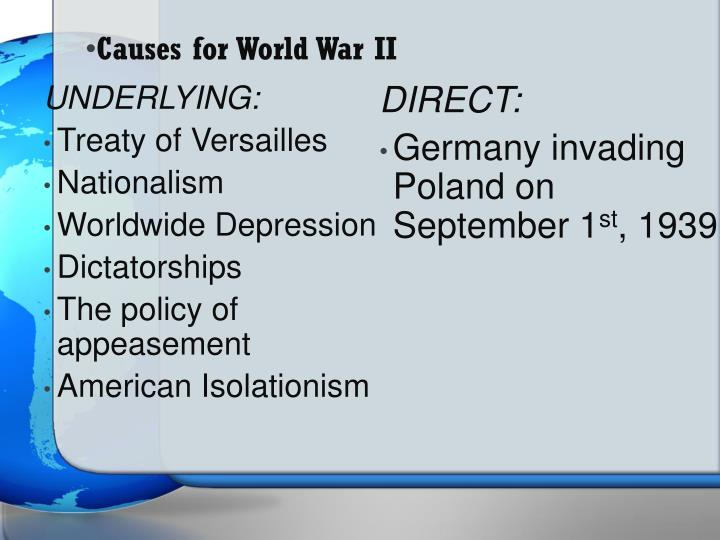 Causes for world war ii