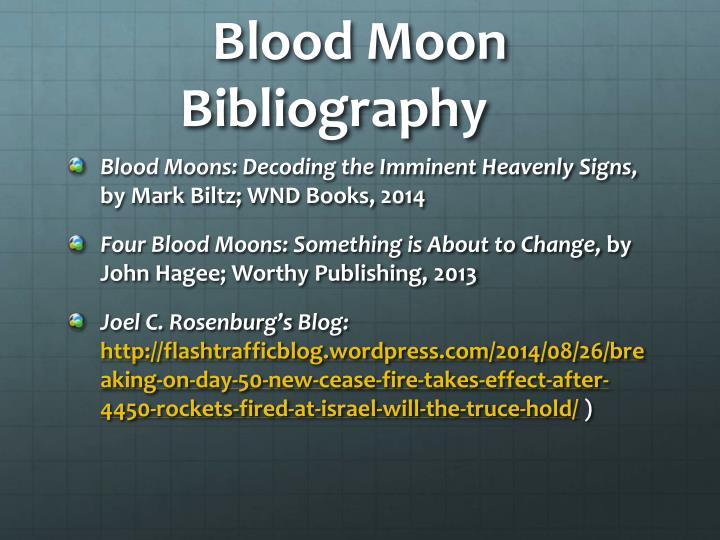 Blood Moon Bibliography