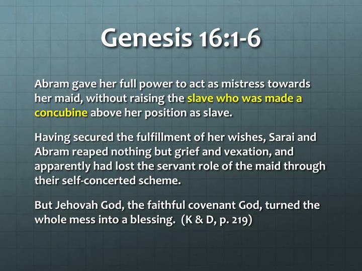 Genesis 16:1-6