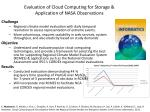 evaluation of cloud computing for storage application of nasa observations