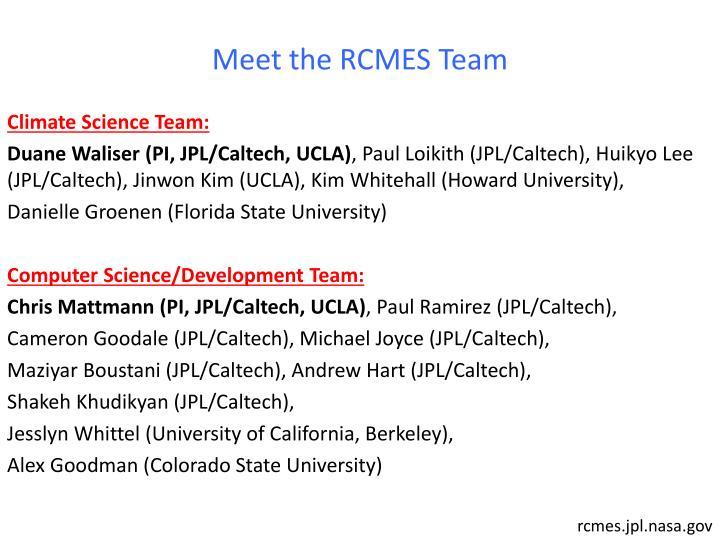 Meet the RCMES Team
