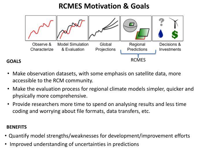 RCMES Motivation & Goals