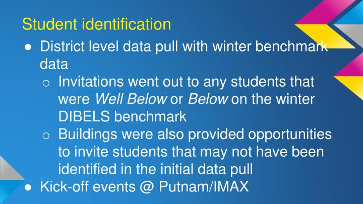 Student identification