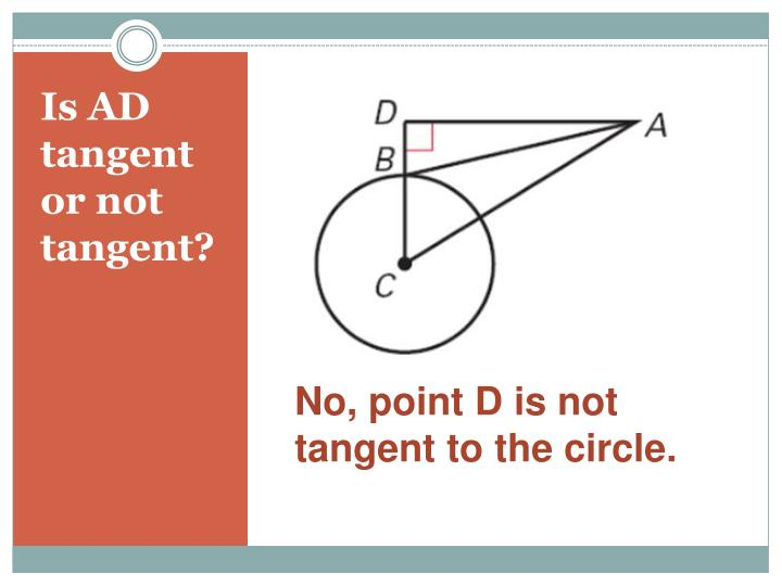 Is ad tangent or not tangent