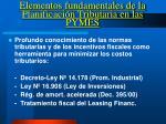 elementos fundamentales de la planificaci n tributaria en las pymes2