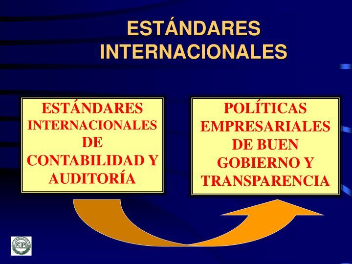 ESTÁNDARES INTERNACIONALES