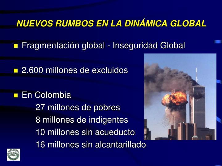 NUEVOS RUMBOS EN LA DINÁMICA GLOBAL