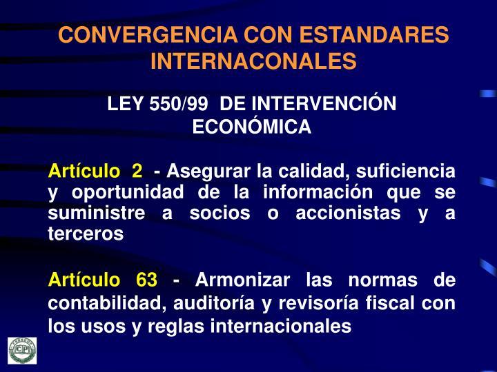 CONVERGENCIA CON ESTANDARES INTERNACONALES