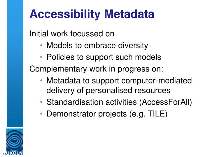 Accessibility Metadata