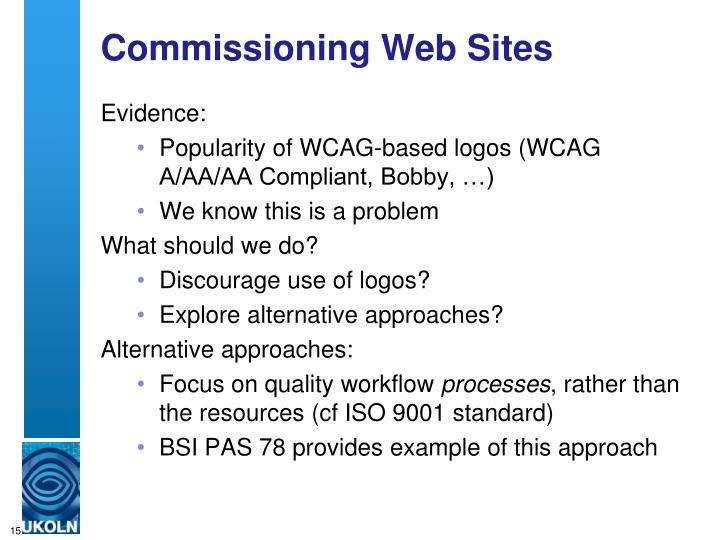 Commissioning Web Sites